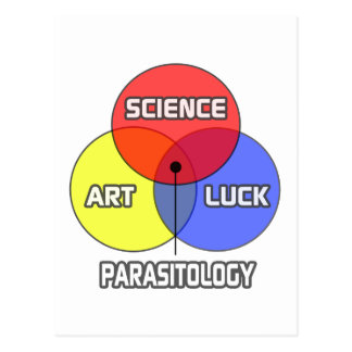 Parasitology .. Science Art Luck Postcard
