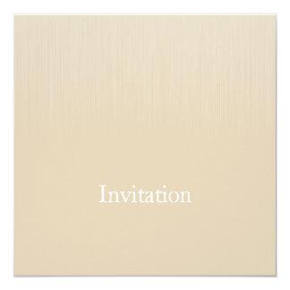 """Parásitos atmosféricos beige suaves de Brown todos Invitación 5.25"""" X 5.25"""""""