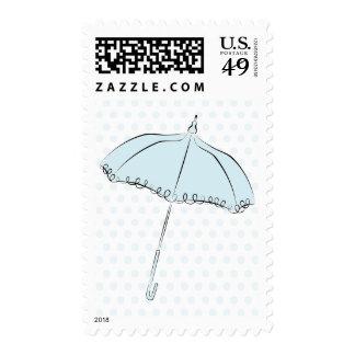 Parasol azul sello