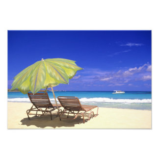 Parasol de playa, Ábaco, Bahamas Fotografia