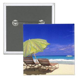 Parasol de playa, Ábaco, Bahamas Pin Cuadrado