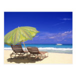 Parasol de playa, Ábaco, Bahamas Postal