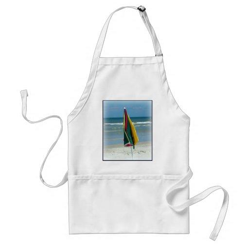 Parasol de playa delantales