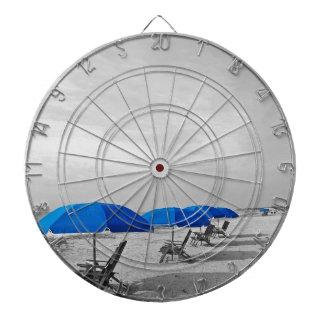 Parasol de playa tablero de dardos