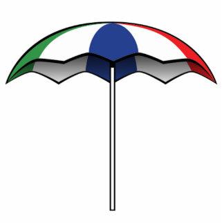 Parasol de playa escultura fotografica