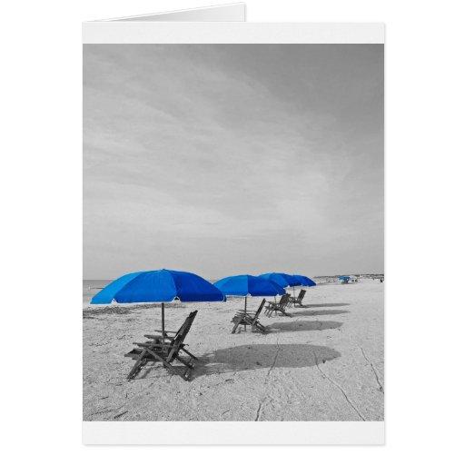 Parasol de playa felicitación
