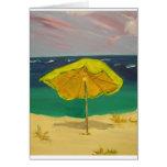 parasol de playa felicitacion