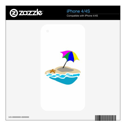 Parasol de playa iPhone 4 skins
