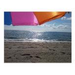 Parasol de playa postal