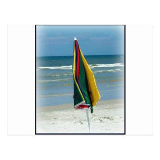 Parasol de playa postales