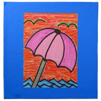 Parasol de playa servilletas