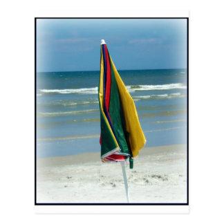 Parasol de playa tarjetas postales
