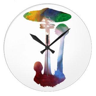 parasol mushroom large clock