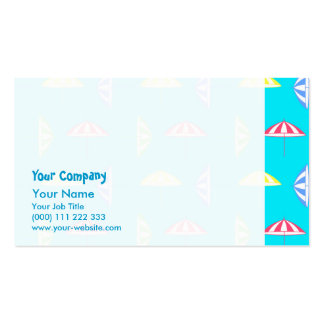 Parasol pattern Double-Sided standard business cards (Pack of 100)