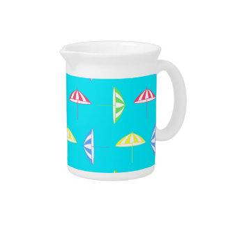 Parasol pattern drink pitcher