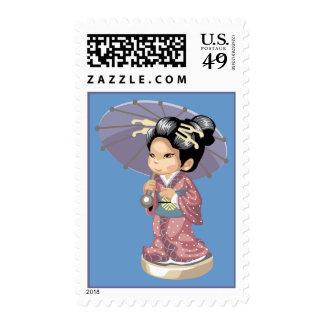 Parasol Postage Stamp