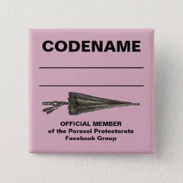 Parasol Protectorate Code Name Button