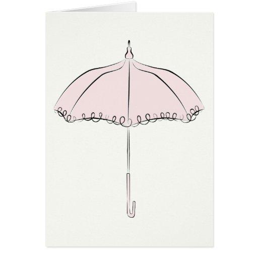 Parasol rosado felicitación