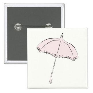 Parasol rosado pin cuadrado