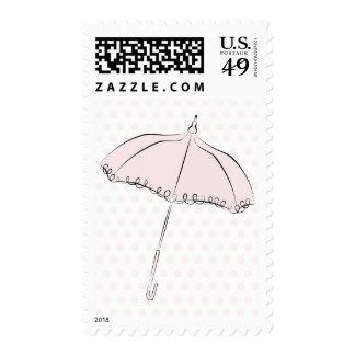 Parasol rosado sello