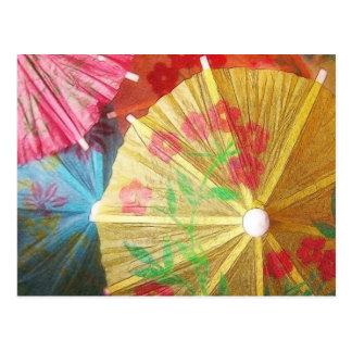 Parasoles bonitos del fiesta tarjetas postales
