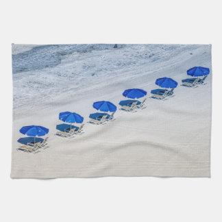 Parasoles de playa toalla