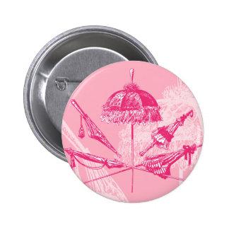 Parasoles rosados pin redondo de 2 pulgadas