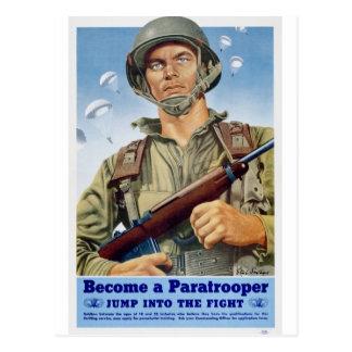 paratrooper postcard