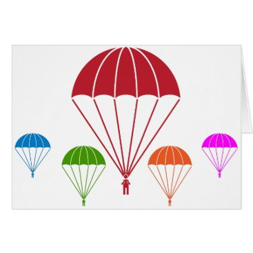 Paratrooper Skydiver Parachute Team Card