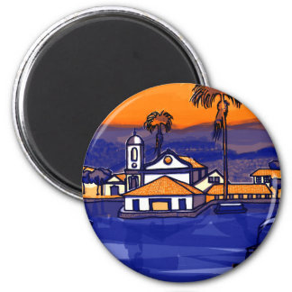 Paraty - Rio De Janeiro - Brazil 2 Inch Round Magnet