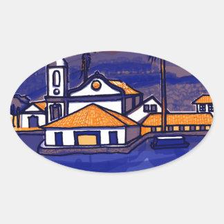 Paraty - Rio De Janeiro - Brazil Oval Sticker