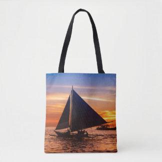 Paraw Sailing At Sunset |Phillipines Tote Bag
