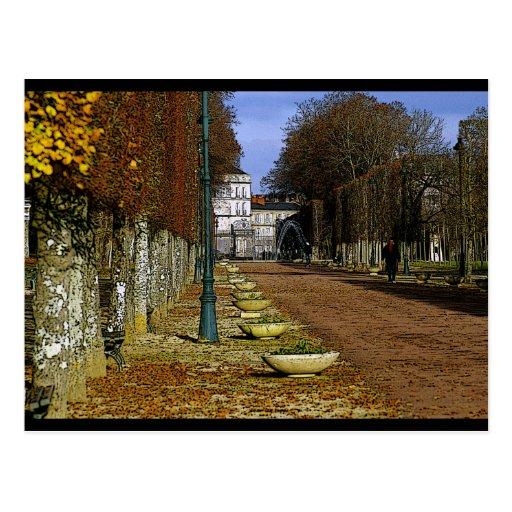 parc blossac postcard