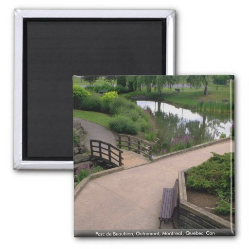 Parc de Beaubien, Outremont, Montreal, Quebec, Can 2 Inch Square Magnet