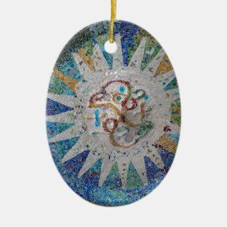 Parc Güell (13) .JPG Ceramic Ornament
