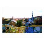 Parc Guell, Barcelona, Spain Postcard