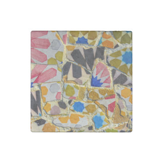 Parc Guell Ceramic Tiles in Barcelona Spain