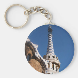 Parc Guell Gingerbread House Keychain