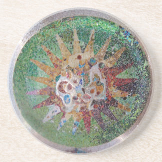 Parc Guell Green Mosaic Coasters