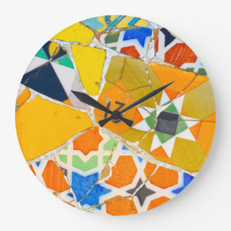 Parc Guell in Barcelona Spain Large Clock