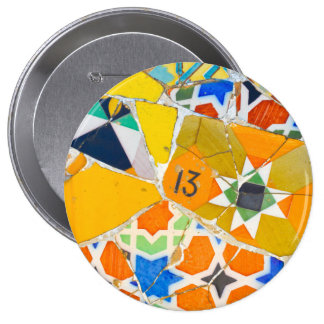 Parc Guell in Barcelona Spain Pinback Button