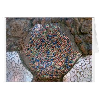 Parc Guell Rainbow Mosaic Card