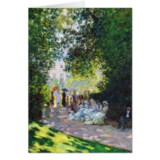 Parc Monceau Claude Monet painting Card