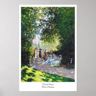 Parc Monceau Claude Monet painting Poster