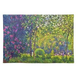 Parc Monceau Claude Monet Placemat