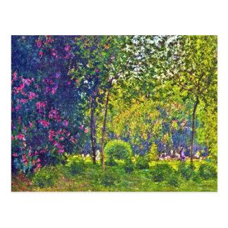 Parc Monceau Claude Monet Postcard