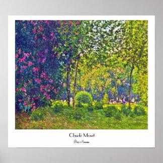 Parc Monceau Claude Monet Póster