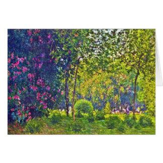 Parc Monceau Claude Monet Tarjeta Pequeña