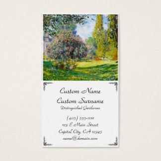 Parc Monceau, Paris Claude Monet Business Card
