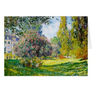 Parc Monceau, Paris Claude Monet Card